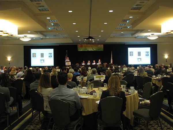 About 300 people attended the first North County Economic...