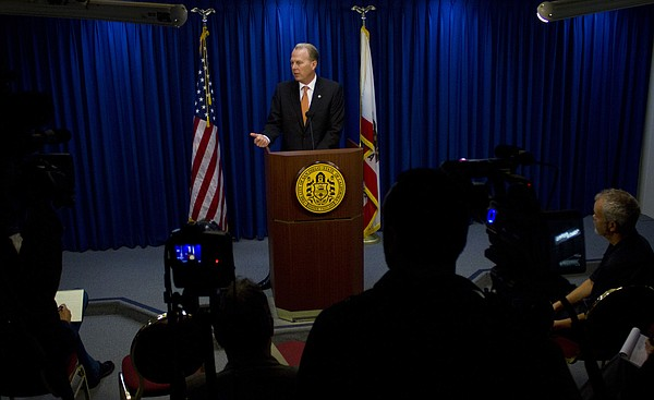 Kevin Faulconer speaks to the media for the first time as...