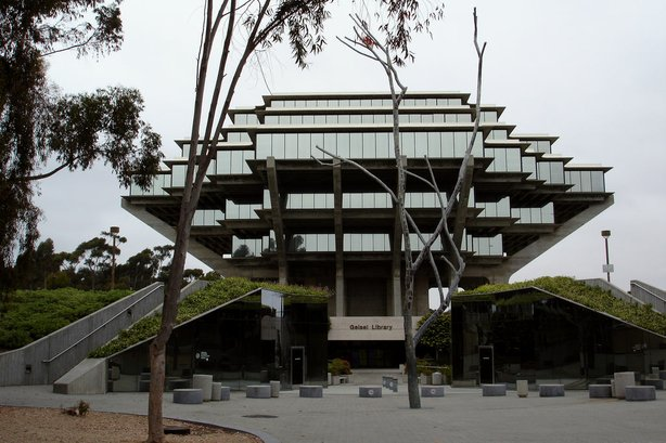 The Geisel Library is seen from the UC San Diego campus on June 11, 2005.