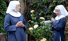 Judy Parfitt as Sister Monica Joan, Victoria Yeates as Sister Winifred.