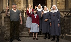 Cliff Parisi as Fred, Helen George as Trixie, Bryony Hannah as Cynthia, Jenny...