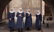Jenny Agutter as Sister Julienne, Judy Parfitt as Sister Monica Joan, Pam Fer...