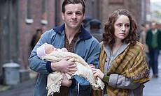 Gethin Anthony as George and Sophie Rundle as Pamela.
