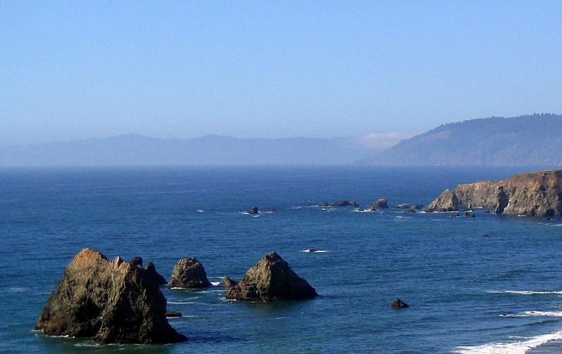 The Pacific coastline near Mendocino on Sept. 2, 2007.