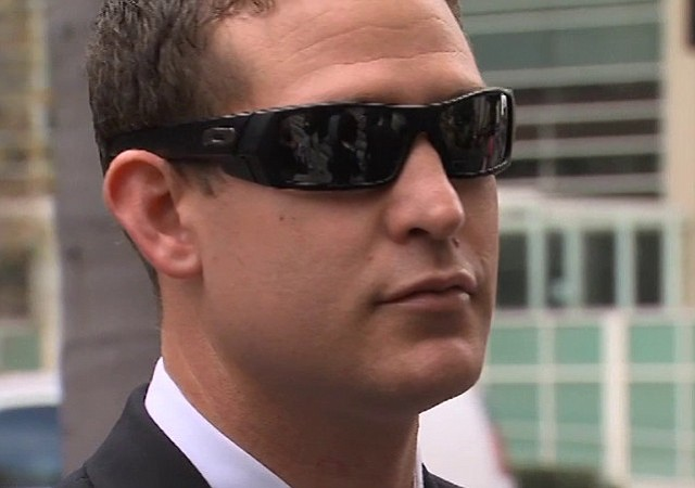Former San Diego Police officer Chris Hays is seen outside the courthouse bef...