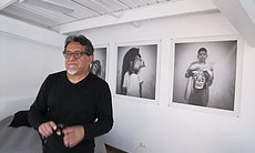 "Josué Castro in his live-work space ""The Kitchen,"" Feb. 20, 2014."