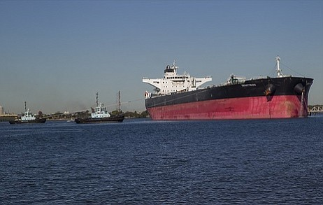 The commercial tanker ship