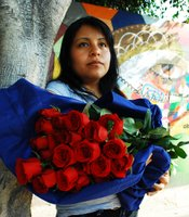 'La Vendedora de Rosas' has been selling flowers in Tijuana for 19 years.