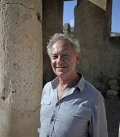 Simon Schama at Iraq-el Amir, Jordan.
