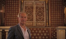Simon Schama at Ben Ezra Synagogue, Cairo, Egypt.