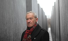 Simon Schama at the Berlin Holocaust Memorial, ...