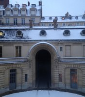 Courtyard of Musee Nissim de Camondo, Paris, France.