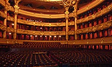 The Opera House, Paris, France.