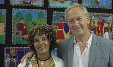 Simon Schama with Avia, a Beta Israel interviewee from Ethiopia.