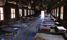 Barracks at Atlit detention camp, Israel.