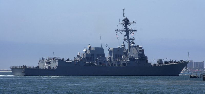 USS Wayne E. Meyer gets underway from Naval Base San Diego for local operatio...