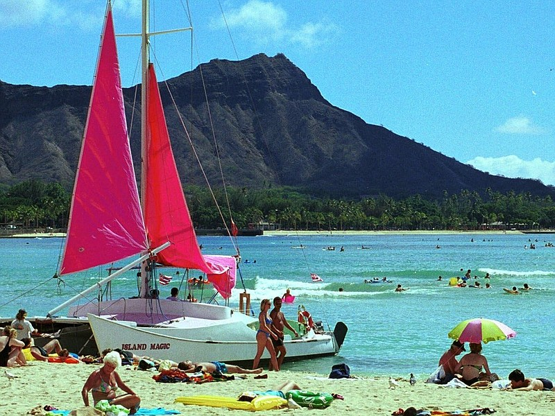 Waikiki Beach in Honolulu. Undercover police in Honolulu say they need to be ...