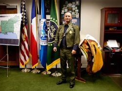 Cmdr. Robert Harris, chief patrol agent for the U.S. Customs and Border Protection, Laredo sector.