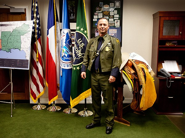Cmdr. Robert Harris, chief patrol agent for the U.S. Customs and Border Prote...