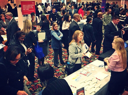 Military spouse fair at Fort Belvoir on Feb. 19, 2014.