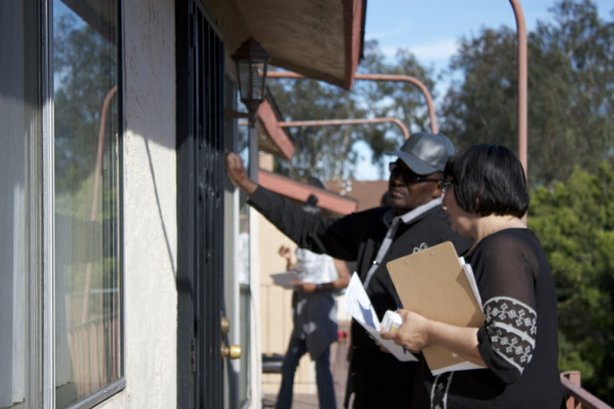 The Community Assistance Support Team visits the Casa Sierra condominium complex every couple of months for a walk-and-knock. They check in on residents who witnessed a January 2013 shooting to offer counseling, prayer and intervention for kids getting caught up in the gang lifestyle.