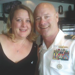 U.S. Navy Cmdr. L. John Regelbrugge III and wife Kris.
