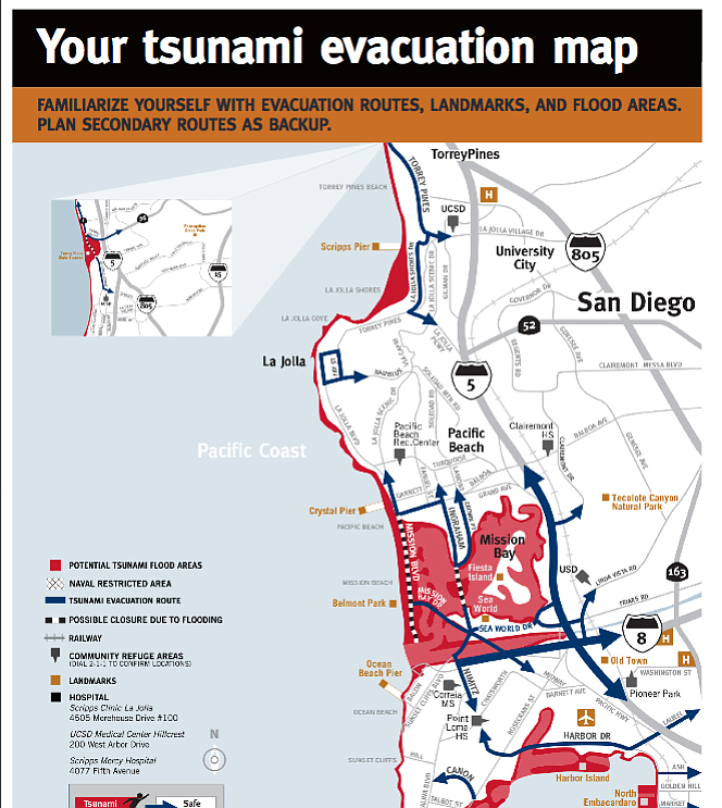 California Map San Diego County.New Maps Show Tsunami Risk Zones In San Diego County Kpbs