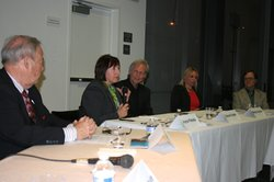 First panel of North County arts leaders meet to plan a regional vision, April 2014