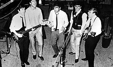 The Dave Clark Five in studio.