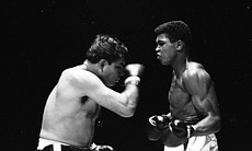 Cassius Clay (right) boxing. (37263)