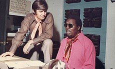 "Rick Hall and Clarence Carter in ""Muscle Shoals."""