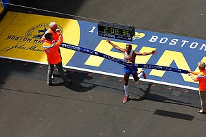 America's Meb Keflezighi Wins An Emotional Boston Marathon