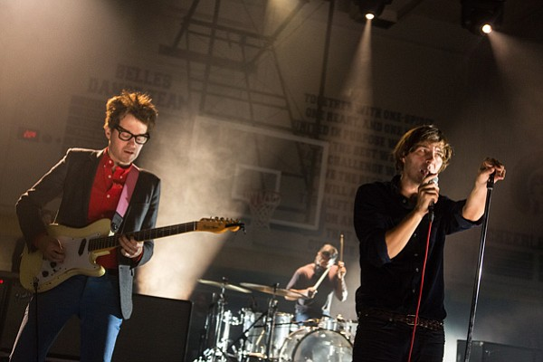 Laurent Brancowitz, Thomas Hedlund, Thomas Mars of the French band Phoenix. I...