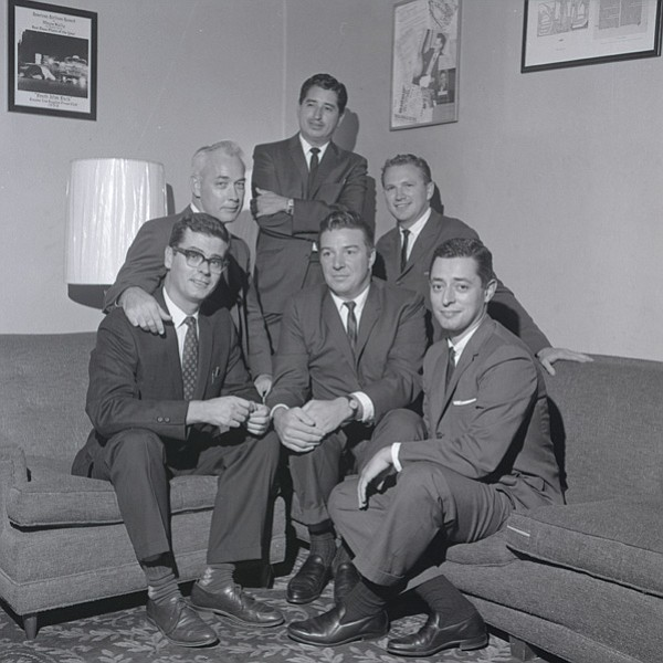 Ruben Salazar with his fellow Los Angeles Times reporters.