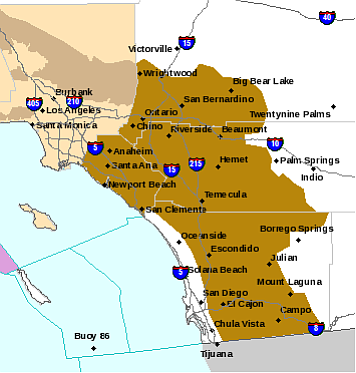 In this National Weather Service map, areas in brown indi...
