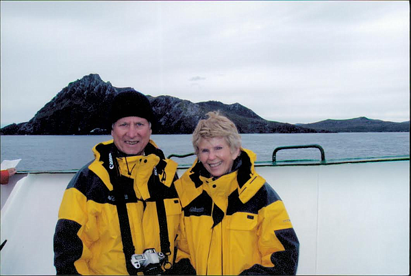 Samiljan enjoys travels with his wife, as pictured here in Antarctica.