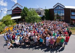 New Belgium Brewing co-owners outside their Colorado Brewery in 2010. NBB is ...