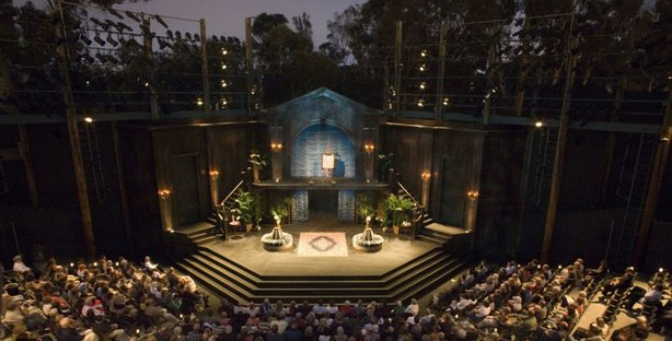 Inside The Old Globe Theatre in San Diego.