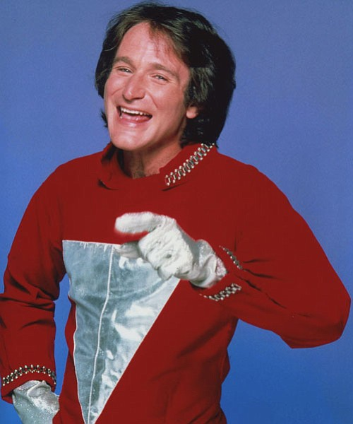 Robin Williams in MORK AND MINDY.