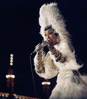 Josephine Baker in performance, January 1, 1968, Denmark. (Agency reference - 85051075)