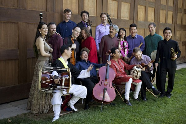 Members of the Silk Road Ensemble performing at Tanglewood.