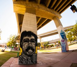 One of the many murals at Barrio Logan's Chicano Park, April 27, 2014.