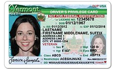 "Vermont allows undocumented immigrants to apply for a Driving Privilege Card. It's marked ""Not for Federal Identification"" on the front."