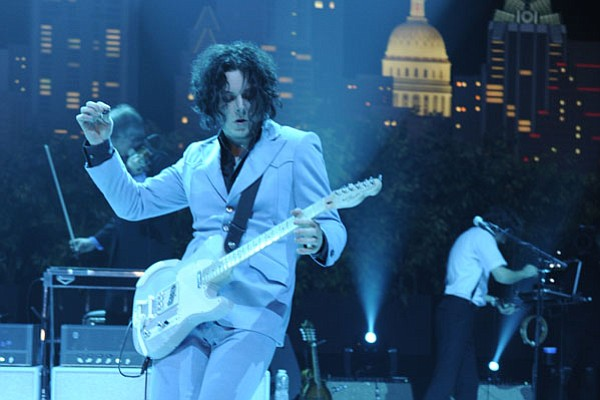 White Stripes leader Jack White performs in support of hi...