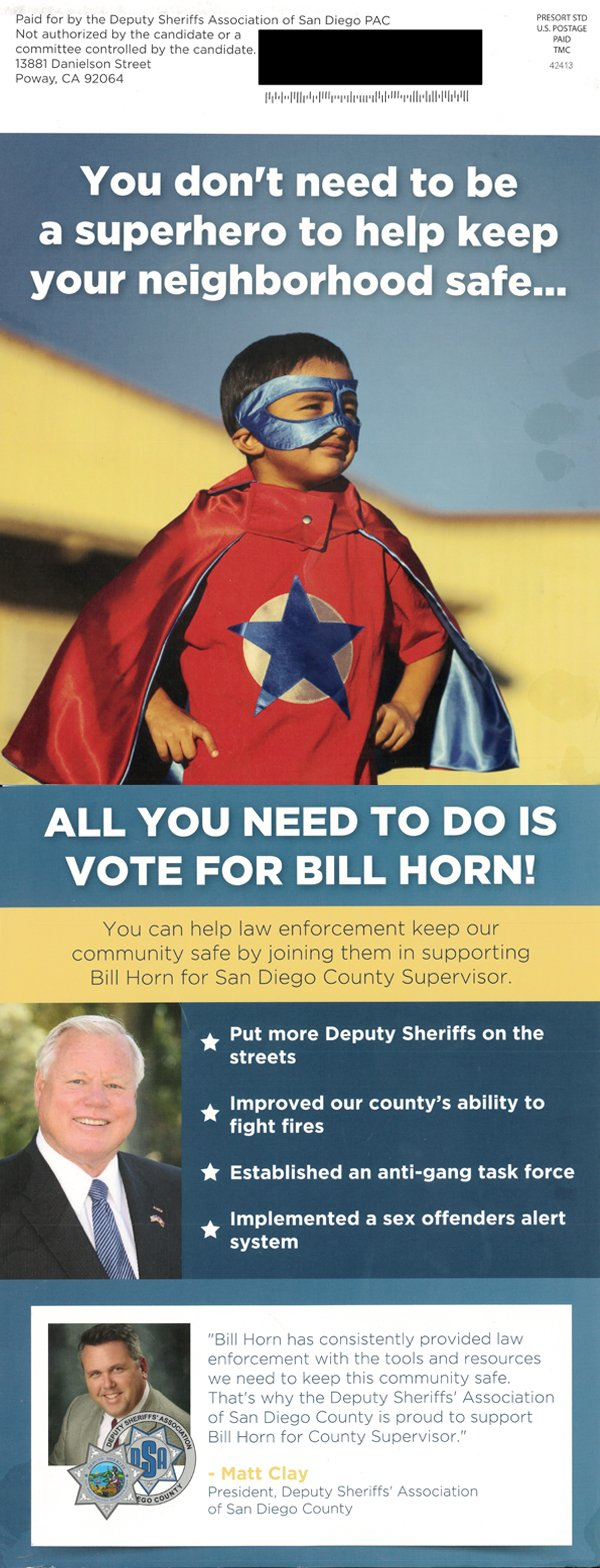 The Deputy Sheriffs' Association PAC is supporting San Di...