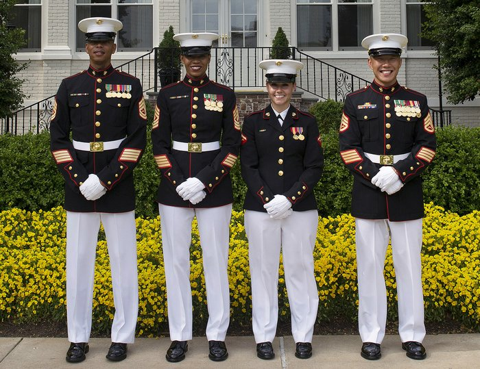 Marine Corps Female Dress Blue Uniform Could Become Same As Men's ...