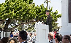 Daniel Hanson reciting the Gettysburg Address, Fort Rosecrans National Cemetery, May 26, 2014.