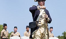 William Tisch of the Sons of the American Revolution, Fort Rosecrans National Cemetery, May 26, 2014.