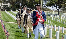 George Biles, Ernest McCullough, William Tisch and Tom Kubow of the Sons of the American Revolution, Fort Rosecrans National Cemetery, May 26, 2014.
