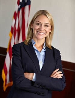 A portrait of former federal prosecutor Sarah Boot.